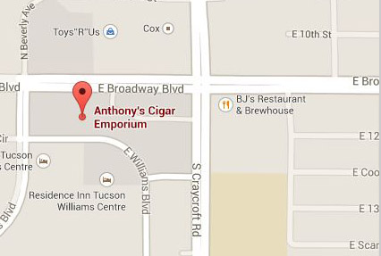 Directions to Anthony's Cigar Emporium - Broadway