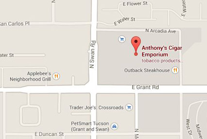 Directions to Anthony's Cigar Emporium - Grant and Swan